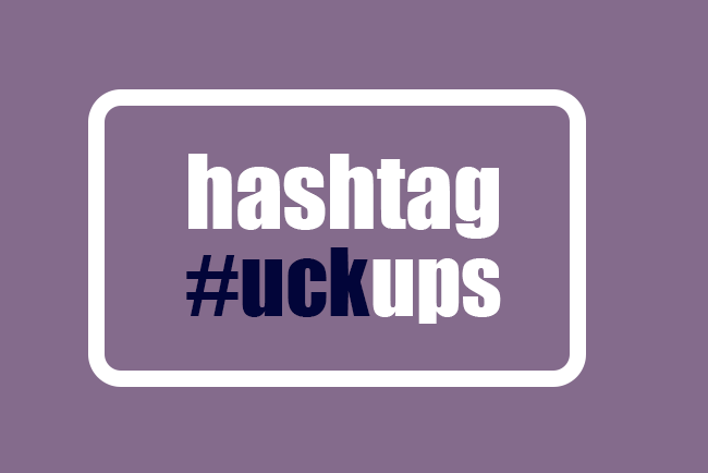What can we learn from the best hashtag #uckups?