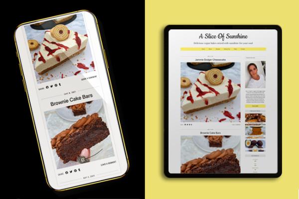 A Slice of Sunshine website design